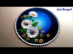 चम्मच के सहायता से बनाये प्यारी सी रंगोली। very easy rangoli using spoon. Easy Rangoli Designs Videos, Rangoli Designs Simple Diwali, Rangoli Simple, Indian Rangoli Designs, Rangoli Designs Latest, Rangoli Designs Flower, Free Hand Rangoli Design, Rangoli Border Designs, Small Rangoli Design