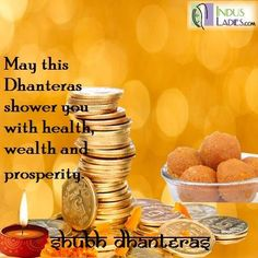 #Dhanteras #festival #India Happy Dhanteras, Indian Festivals, Culture, Fruit, Health, Food, Health Care, The Fruit, Meals