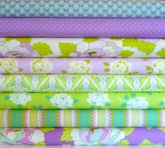 Half Yard Each, Orchid Bundle, Lottie Da Collection, 4 Yards Total, Heather Bailey, Quilting Cotton