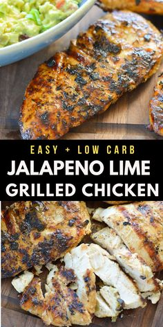 This Grilled Jalapeno Lime Chicken is a quick and easy meal with out of this world flavor! This is the perfect grilled chicken for tacos, nachos and wraps!  #grill #chicken