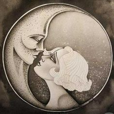 Artwork by Jaclyn Rehe Sun Moon Stars, My Sun And Stars, Moon Dance, Illustration Art, Illustrations, Paper Moon, Beautiful Moon, Moon Goddess, Jolie Photo