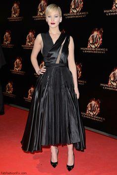 Jennifer Lawrence in Christian Dior dress
