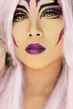 Eye art - wild purple