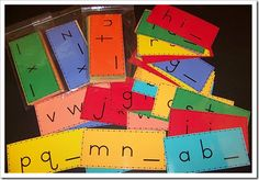Missing letter of the Alphabet cards. This helps to reinforce the alphabet ands its sequence. Abc Centers, Kindergarten Centers, Kindergarten Literacy, Early Literacy, Teaching First Grade, Teaching Reading, Alphabet Activities, Literacy Activities, Language Activities