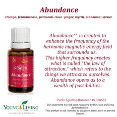 Young Living Essential Oils Abundance Visit my website for more information or to order: www.ylwebsite.com/paola