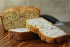 Paleo Herb Bread - I have made this and it is delicious. I recently added roasted garlic to the mix to make a garlic herb paleo bread. Great Recipes, Whole Food Recipes, Cooking Recipes, Favorite Recipes, Primal Recipes, Gluten Free Recipes, Gf Recipes, Vegetarian Recipes, Recipies