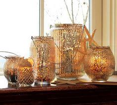 DIY knockoff Pottery Barn lanterns