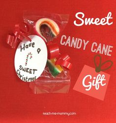 End of the year means end of the school year for us too, and with that teacher and assistants gifts are in order! For the assistants we made these cute candy cane gifts, and it was real easy too!
