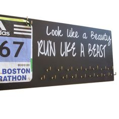 Medals and bibs display  running medals and by runningonthewall, $44.99