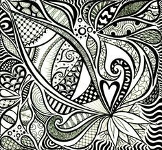 zentangle designs color flowers - Google Search