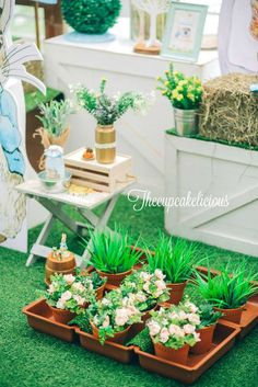 Beatrix Potter Peter Rabbit 1st birthday party | CatchMyParty.com