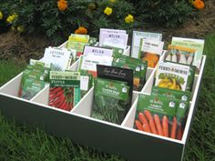 monthly when-to-plant seed packet storage box