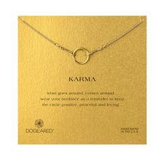 karma necklace, gold dipped, 18 inch
