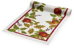 Sur La Table Apple Linen Table Runner