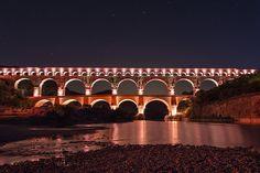 Pont du Gard by night