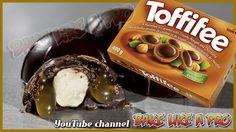 Inside Out Toffifee Recipe Chocolate Salted Caramel Hazelnut Tutorial BakeLikeAPro Best Pie, Best Food Ever, Pie Recipes, Chocolate Recipes, Truffles, Allrecipes, Donuts, Food To Make, Caramel