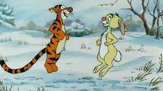 Tigger and Rabbit bouncing