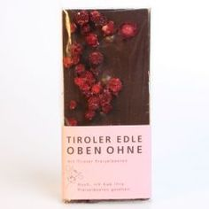 Tiroler Edle 75% Oben Ohne Tiroler Preiselbeeren Schokolade - chocolate from Austria