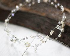 Tocado de novia boda cabello vid novia vid accesorios