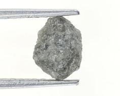 Rough Silver Color 1.03 Ct Natural Loose Diamond Raw Irregular Shape