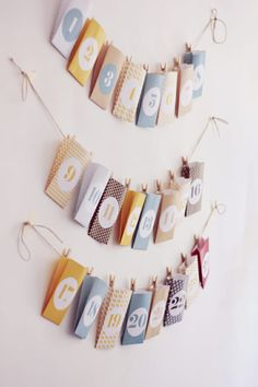 Make Christmas Countdown Fun With These Great DIY Advent Calendars Christmas Countdown, Christmas Calendar, Noel Christmas, All Things Christmas, Winter Christmas, Xmas, Advent Calenders, Diy Advent Calendar, Countdown Calendar