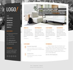 This interior design and furniture WordPress theme includes a responsive layout, 3 slider options, 4 predefined color schemes, custom widgets for Flickr, Twitter, and testimonials, Google Fonts support, and more.