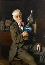Bonhams : Charles Spencelayh, RMS, HRBSA (British, 1865-1958) A lover of Dickens