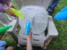 "Another idea: Freeze a Han Solo figurine in a tub of ice and let kids use dollar store water guns to free him from ""carbonite."""