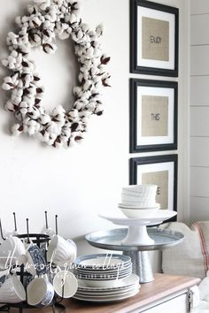 Cotton Wreath from The Wood Grain Cottage