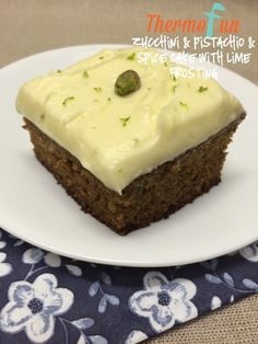 Print Zucchini, Pistachio and Spice Cake with Lime Frosting Recipe By thermofun September 4, 2015 This is the most amazing cake. There is no need to squeeze the moisture out of the zucchini and as a benefit to this it keeps the cake so moist for days and days. I love the thought of having …