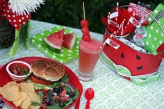 Watermelon themed #picnic #party!