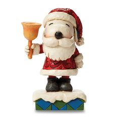 Peanuts Jim Shore Santa Snoopy With Bell