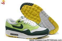 sale retailer 7fa4c bd290 Wholesale Cheap 308866-108 Nike Air Max 1 White Gorge Green Mens For Sale  Cheap