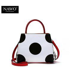 04704c9f5d701f NAWO Famous Brands Women Leather Handbags Designer Women Bag Dot High  Quality Shoulder Messenger Bags Luxury