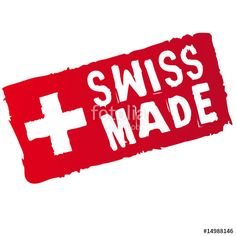 Vector: swiss made stempel