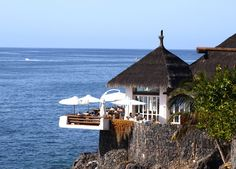 Las Rocas – Costa Adeje, Tenerife. Ten-erific! Dinner on the terrace watching the sun set.