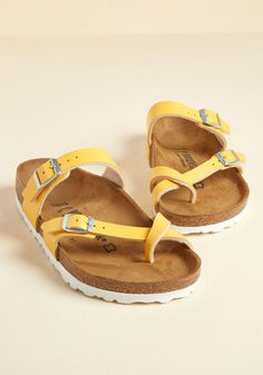 Yellow Clothes, Yellow Shoes, Yellow Sandals, Sandals Outfit, Shoes Sandals, Women Sandals, Strappy Shoes, Cute Shoes, Me Too Shoes