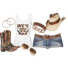 daisy dukes and boots :D
