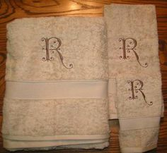 Monogrammed towels - Lovely!