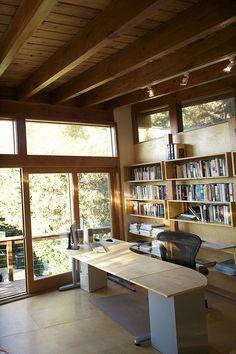 Office Interior Design, Home Office Decor, Office Interiors, Cabin Office, Interior Ideas, Office Designs, Design Your Home, House Design, Backyard Office