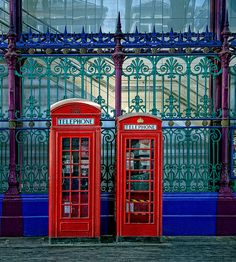 Two Telephone Boxes, London.