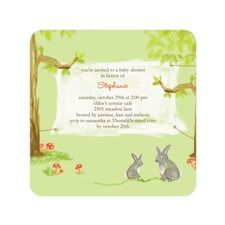Storybook Forest Baby Shower Invitations