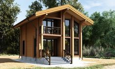 Дом деревянный из клеёного бруса сорт А, проект «Тиль»