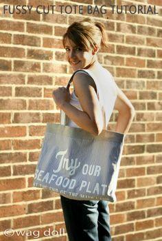 Fussy Cut Tote Bag - Sewing Tutorial | Wag Doll