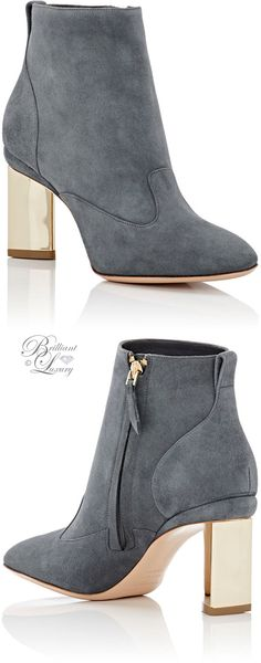 Brilliant Luxury by Emmy DE ♦Gianvito Rossi Buckle-Strap Ankle Boots