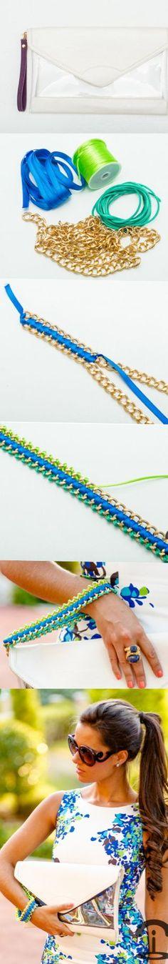 ¡Cómo nos gustan las cosas que hace esta chica! ... Crimenes de la Moda: DIY Neon Chain Clutch