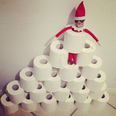 Our Elf on The Shelf built a tower of loo paper last night. Kids thought it was hysterical! Sometimes the easiest things are the best!