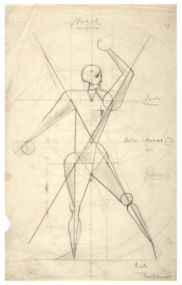 Klaus Rudolf Barthelmess, Nude Drawing from Oskar Schlemmer's class, 1922 Bauhaus Archive / Museum of Design, Berlin (2655)