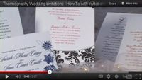 DIY Video Creative Wedding Invitations - Embossing - Thermography | Wedding Planning, Ideas & Etiquette | Bridal Guide Magazine