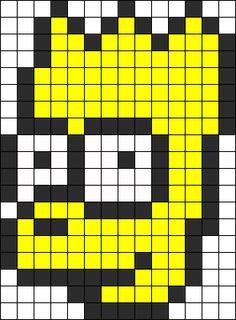 Bart Simpson Perler Bead Pattern | Bead Sprites | Characters Fuse ...